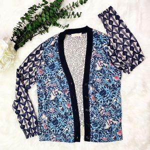 Tory Burch Kensington Printed Cardigan